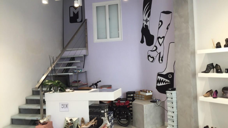 Cabecera decoración locales comerciales Málaga con pintura