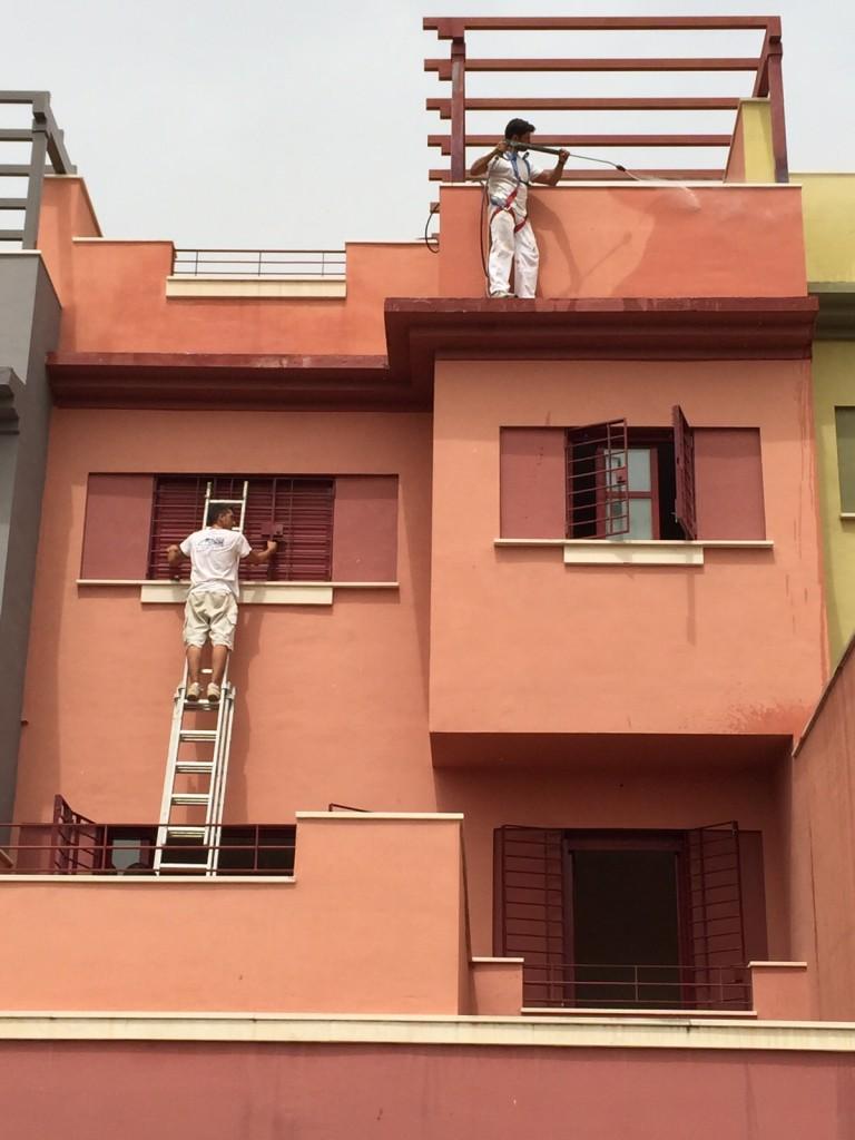 Limpieza de fachada con agua a presión Málaga